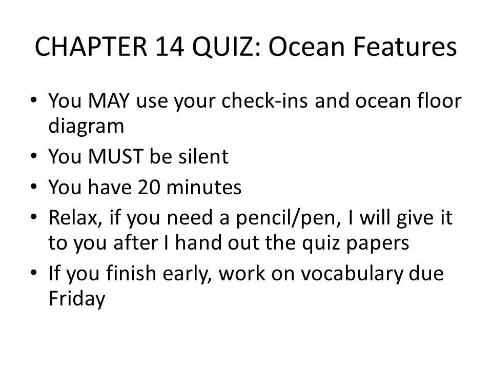 The Ocean Floor Day 1 Warm Up 1Why do you think we study oceans – Ocean Floor Diagram Worksheet