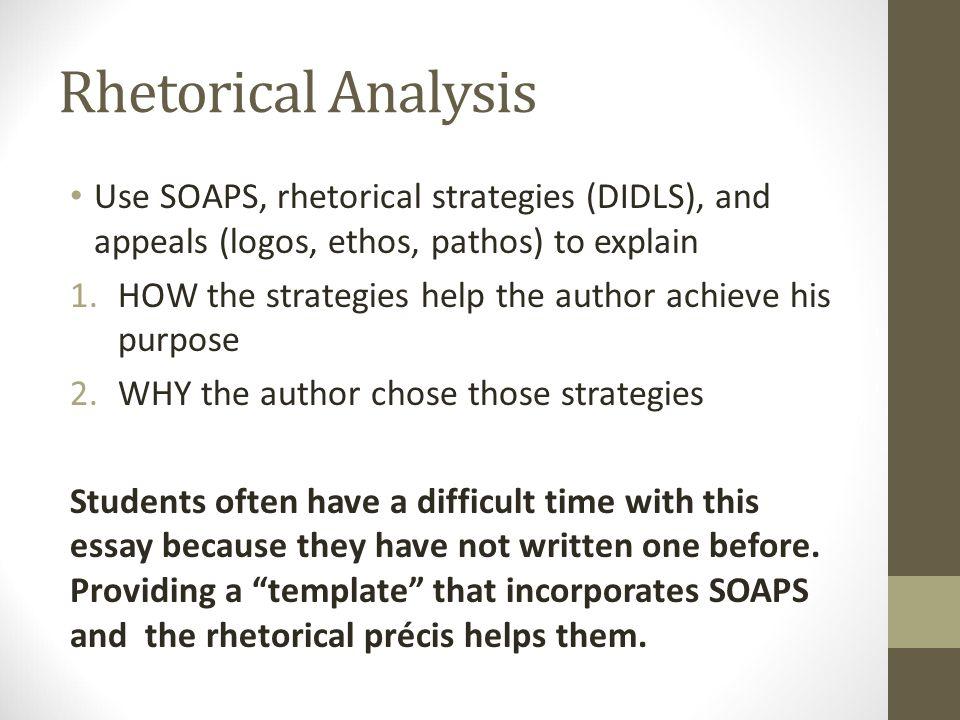 Rhetorical Pr cis and Rhetorical Analysis AP English Language and – Rhetorical Precis Template