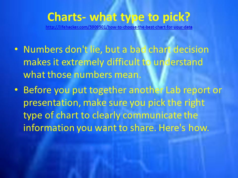 Charts What Type To Pick  Ppt Download