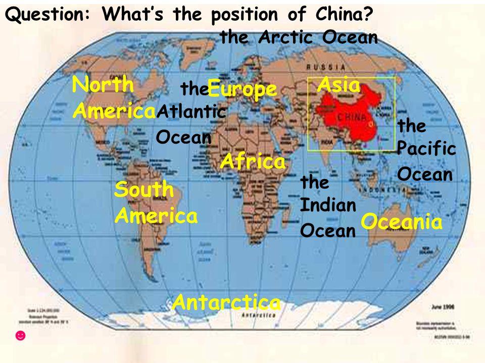 Warmingup Asia Europe Africa North America South America Oceania - Pacific and atlantic ocean map