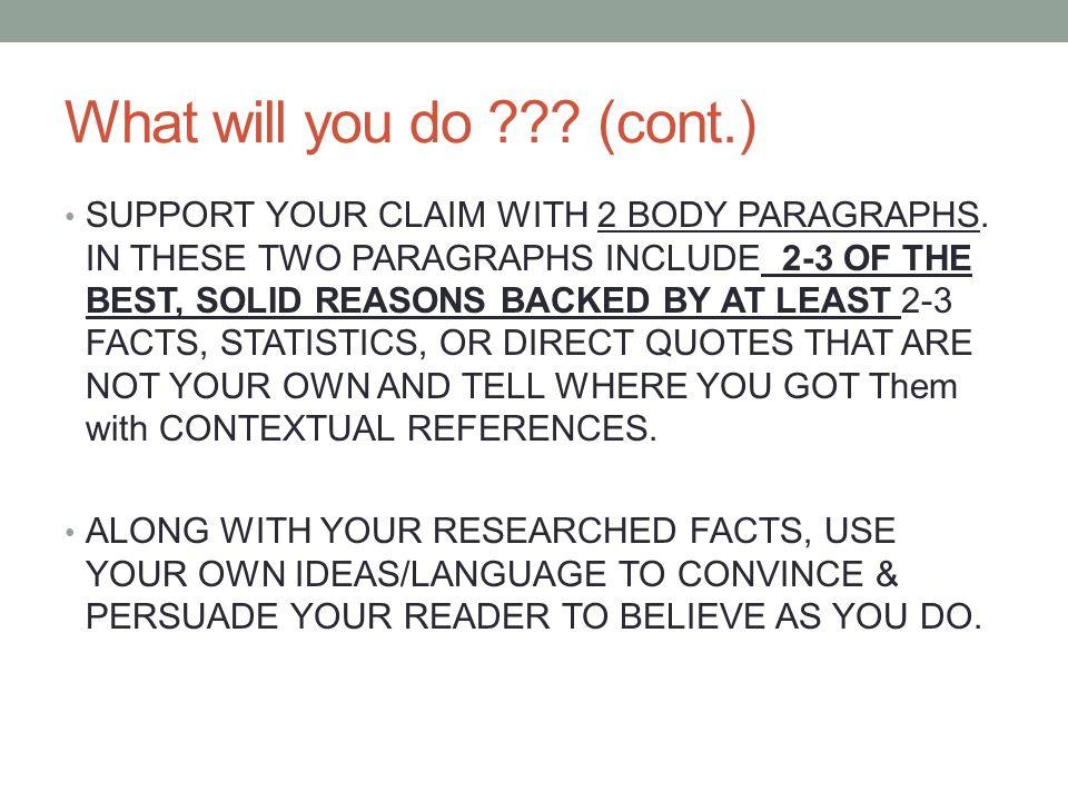 7Th Grade Persuasive Essay