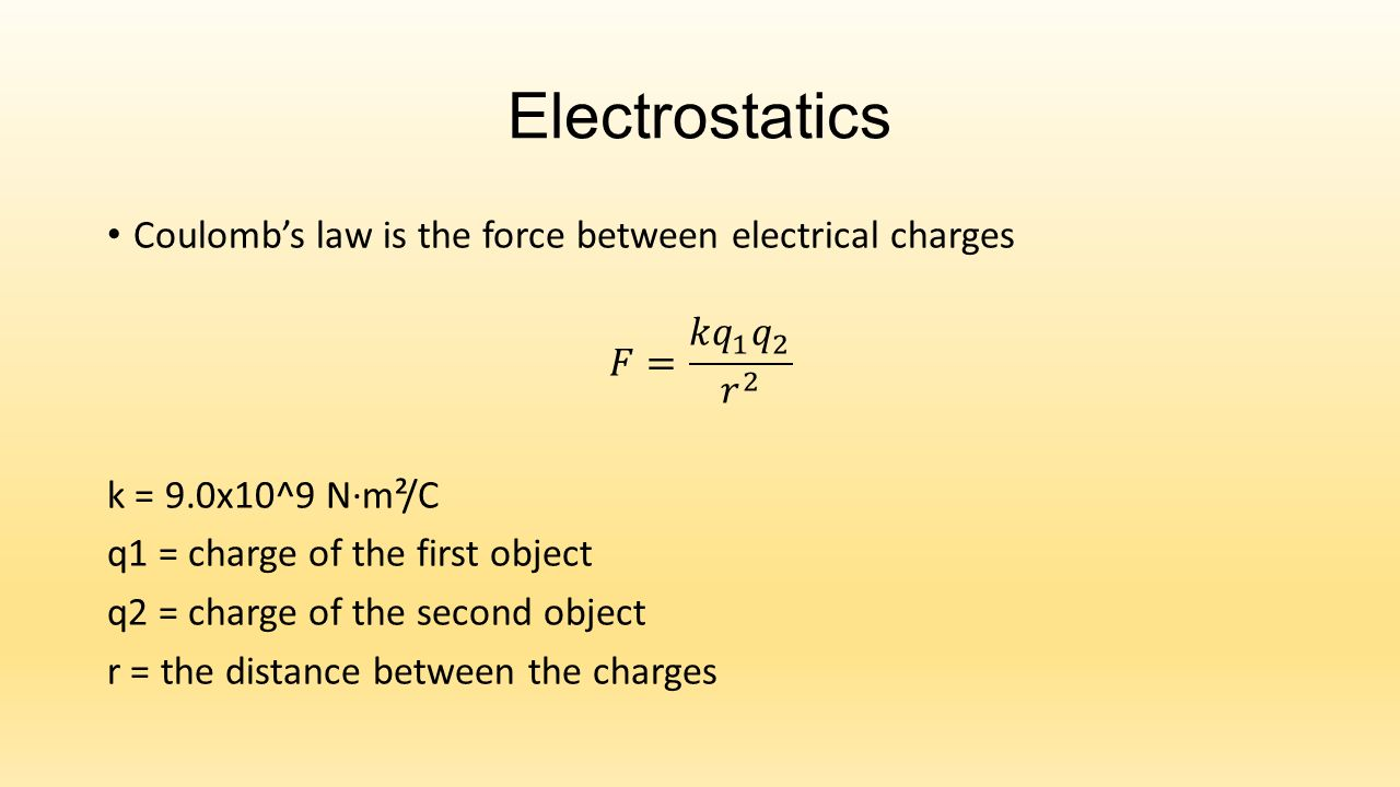 Electrostatics Introduction to electricity Electrostatics – Electrostatics Worksheet