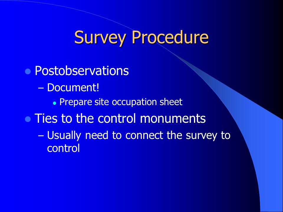 Survey Procedure Postobservations – Document.