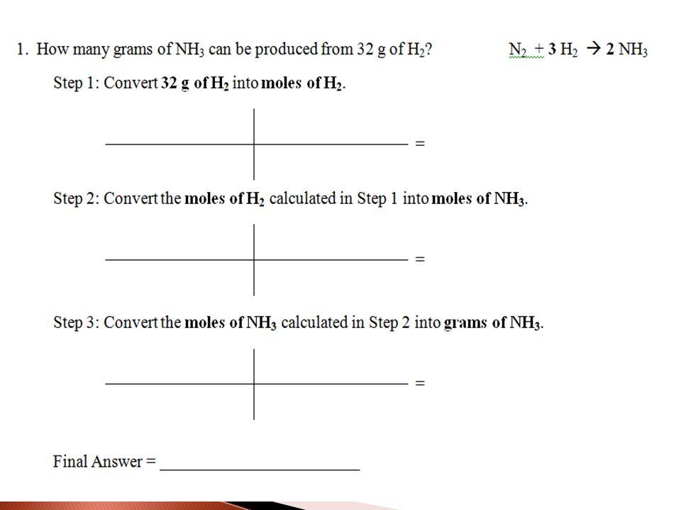 2514 Mole Conversions EQ How can I use balanced equations to – Mole Ratios and Mole to Mole Conversions Worksheet Answers