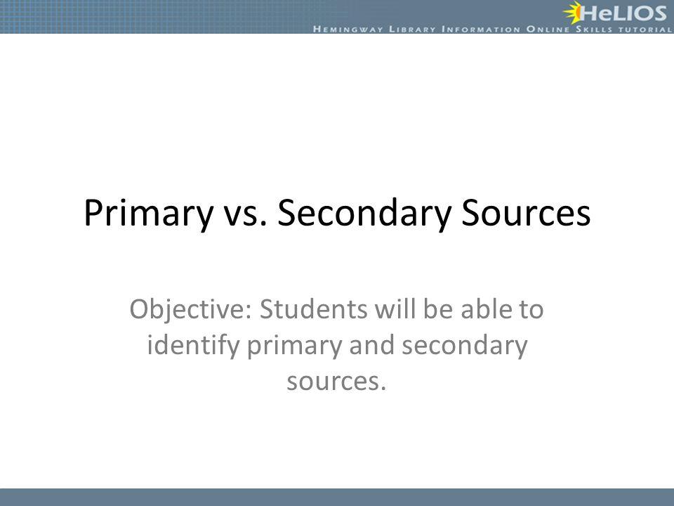 Primary vs.