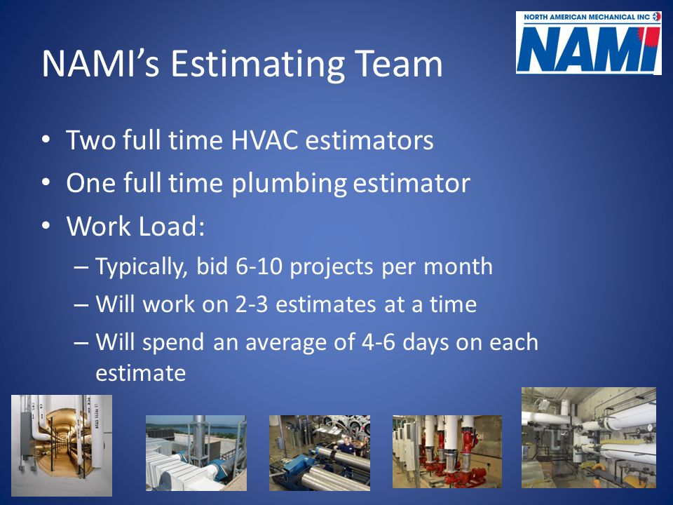 6 namis estimating team two full time hvac estimators. Resume Example. Resume CV Cover Letter