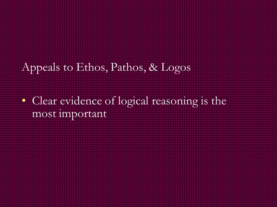 logical appeal persuasive essay Examples of logical appeal in persuasive writing in the 4th century bce, greek philosopher aristotle authored.