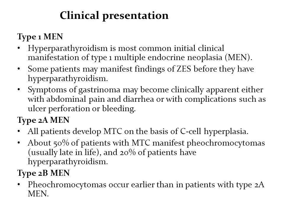 Multiple Endocrine Neoplasia Type 1 (MEN1) / Cushing's Help and ...