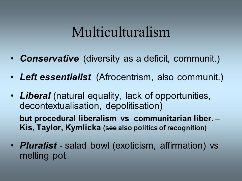 okin multiculturalism Whose culture from boston review the ethical claims of feminism run counter to group rights multiculturalism.