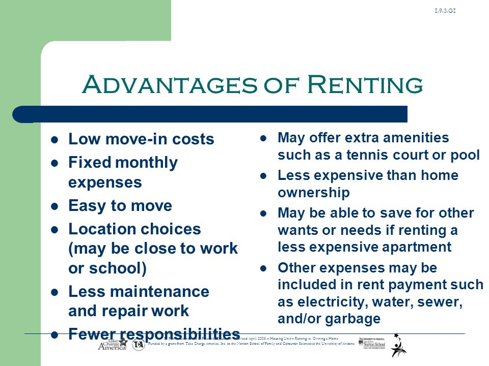 Housing deciding between renting and owning a house ppt download 7 193 sciox Choice Image