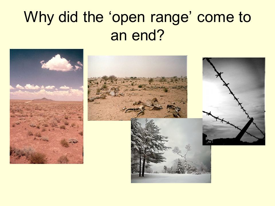 Why did the 'open range' come to an end