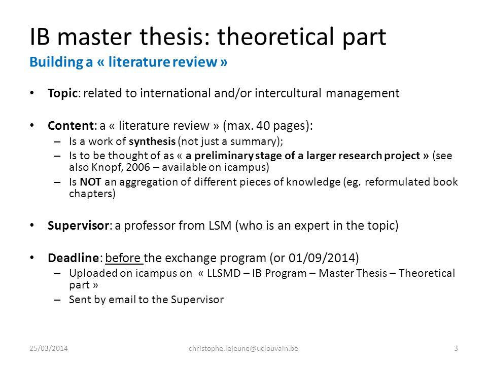 master thesis available Starting from friday, may 12th, at 17:00, all the master thesis topics will be available at.