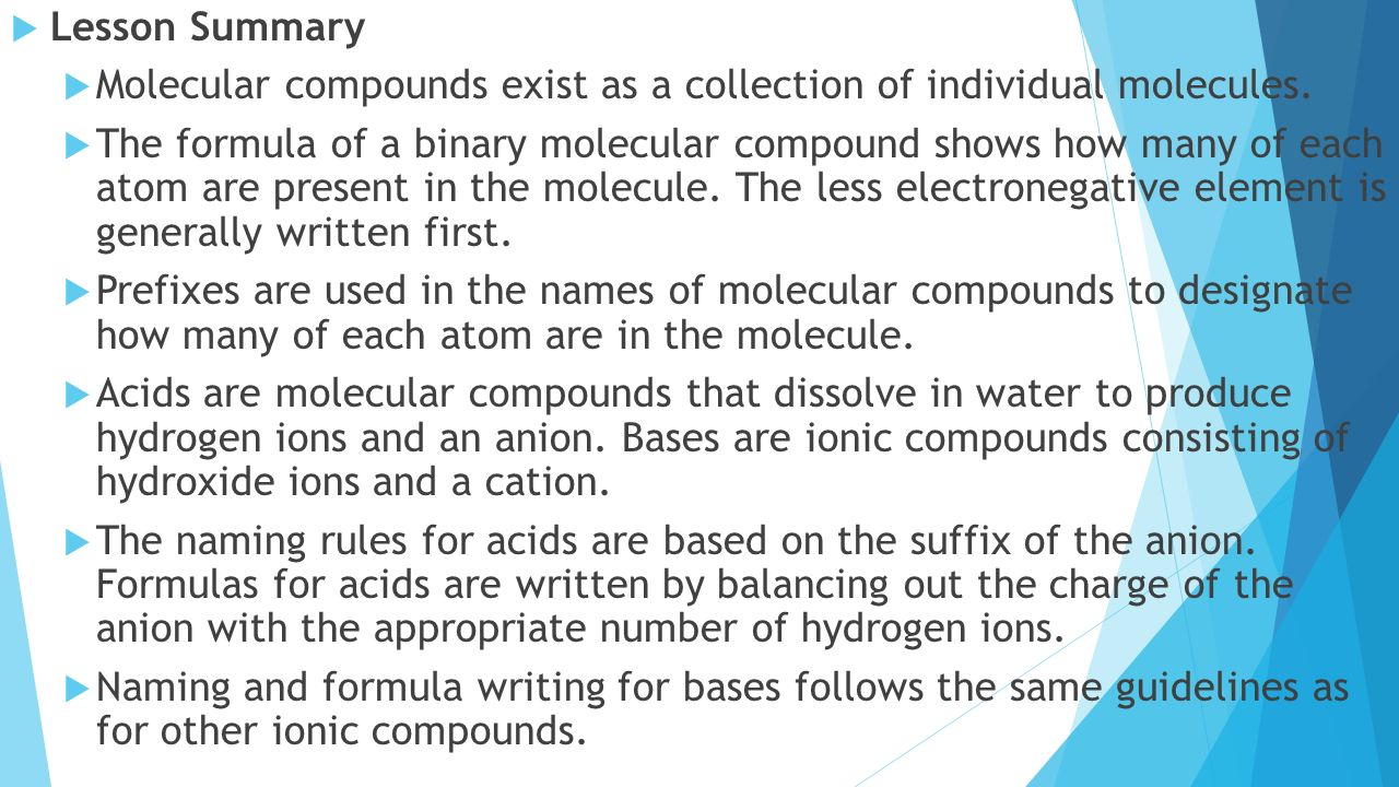 Binary ionic and molecular compounds worksheet answers