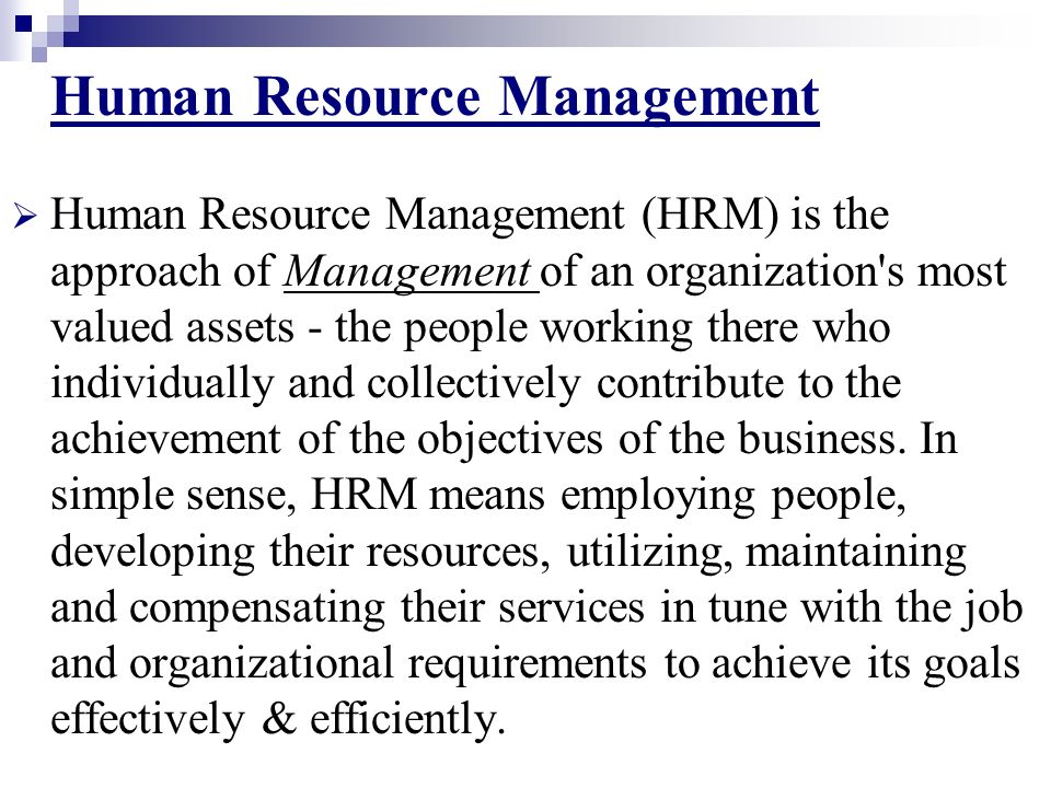 what is meant by strategic approach to hrm