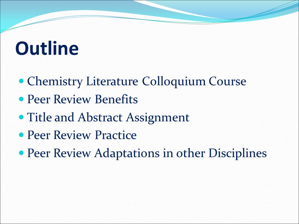 literature review outline