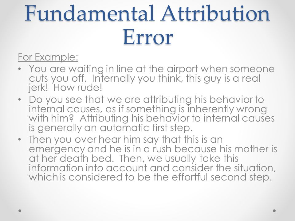 Examples Of Fundamental Attribution Error Gallery Example Cover