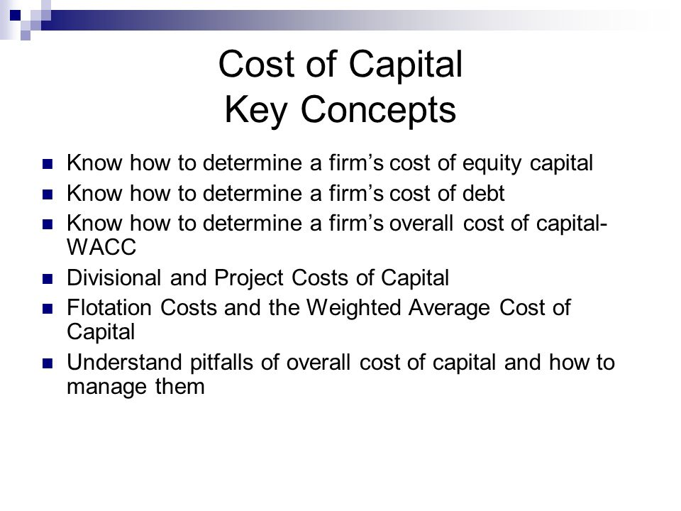 cost of capital practices in bd Chapter title: corporate capital budgeting practices and the effects of tax policies on investment chapter author: measures of the cost of capital are used.