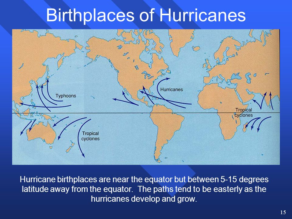 1 Hurricanes n Hurricanes are large, tropical storm systems that ...