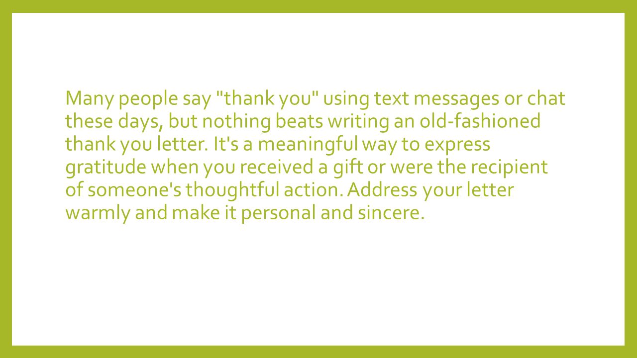 How to write a thank you letter many people say thank you using many people say thank you using text messages or chat these days but nothing beats expocarfo