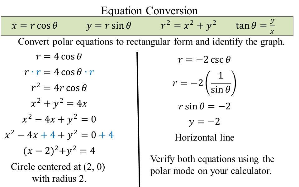 Polar Coordinates Today's Objective: I can convert between polar ...