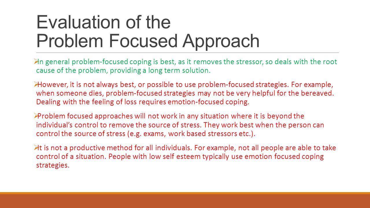 Distinguish Between Problem Focused Coping And Emotion Focused