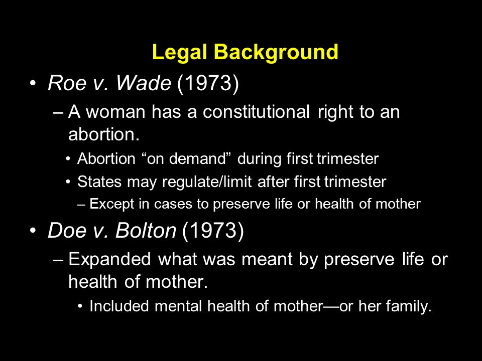 roe vs wade thesis In roe vwade, 410 us 113 (1973), the supreme court held that a pregnant woman has a fundamental privacy right to obtain an abortion 410 us at 153, 155-56 the court's opinion was written by justice harry blackmun.