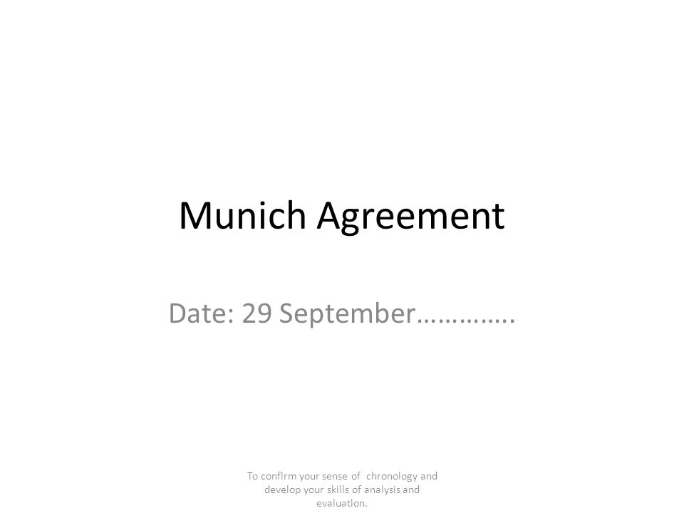 Munich Agreement Date Images Agreement Letter Format