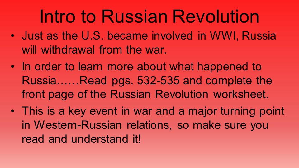 an introduction to the russian revolution Russian revolution essay 10 introduction affected by the southeast when comparing the french revolution of 1789 and russian october revolution of.