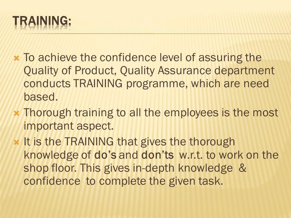 training department shop