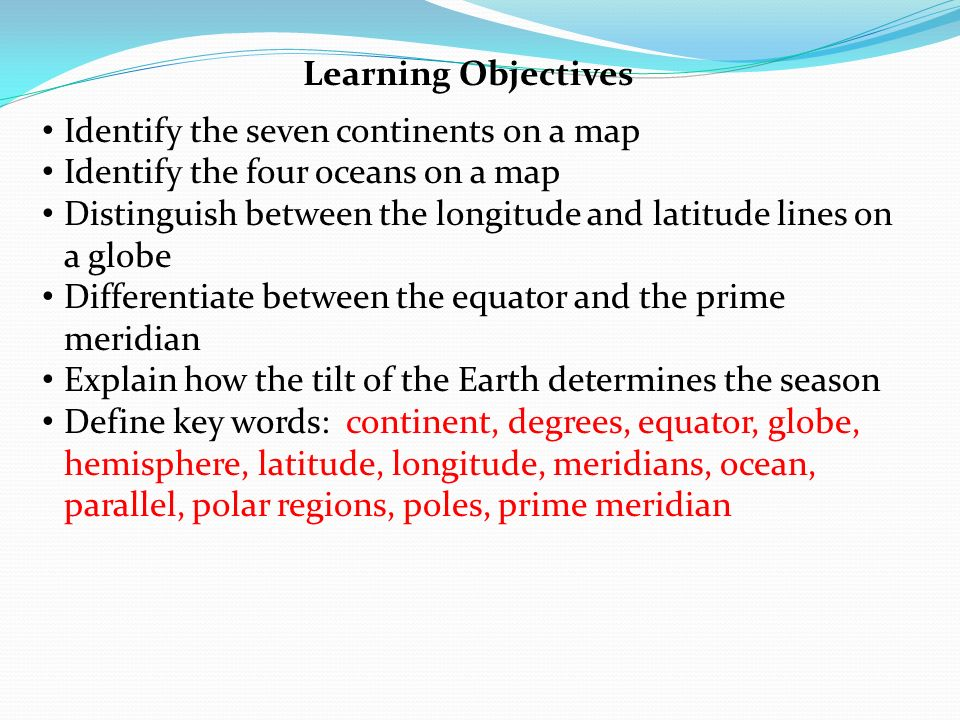 Earth systems chapter 13 mapping our world learning objectives 2 learning objectives identify the seven continents sciox Choice Image