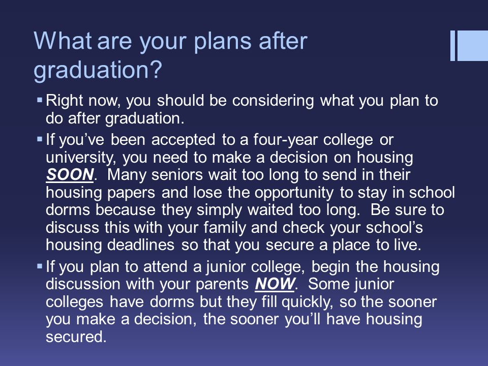 plans after high school