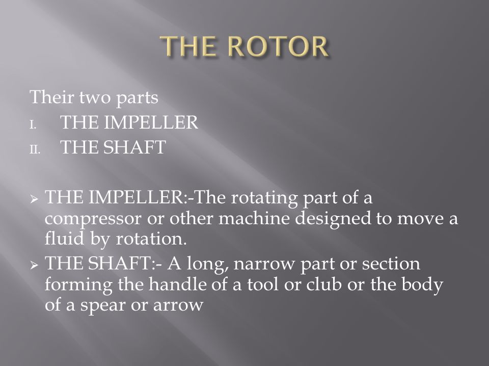 Their two parts I.THE IMPELLER II.