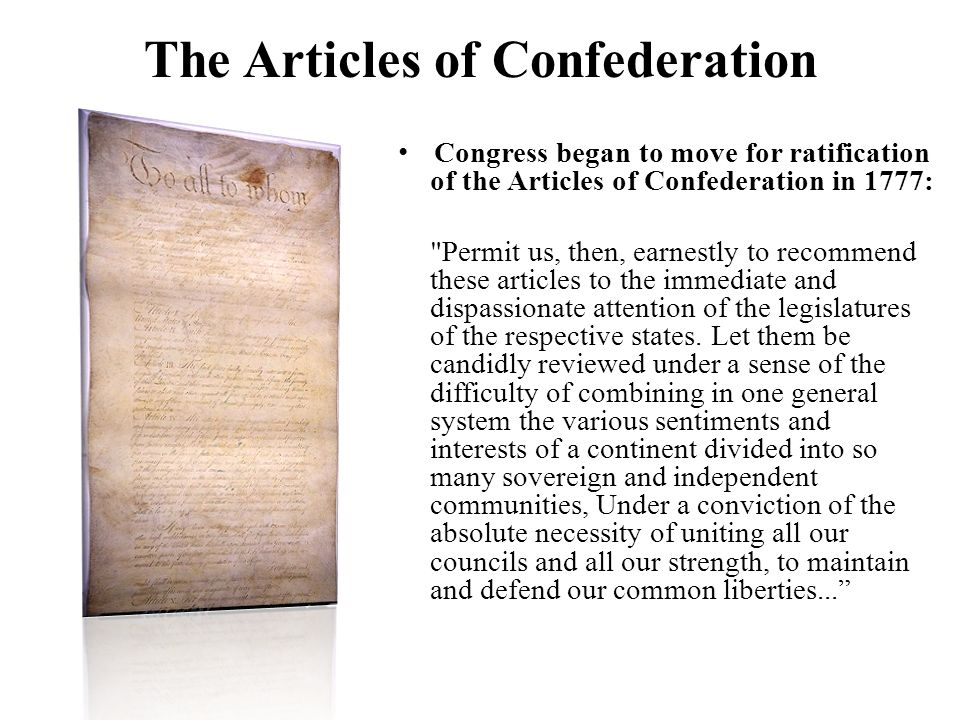 decentralization under articles of confederation The constitution was an attempt to address problems of decentralization that were experienced under the articles of confederation a) list three problems of decentralized power that existed under the articles of confederation.