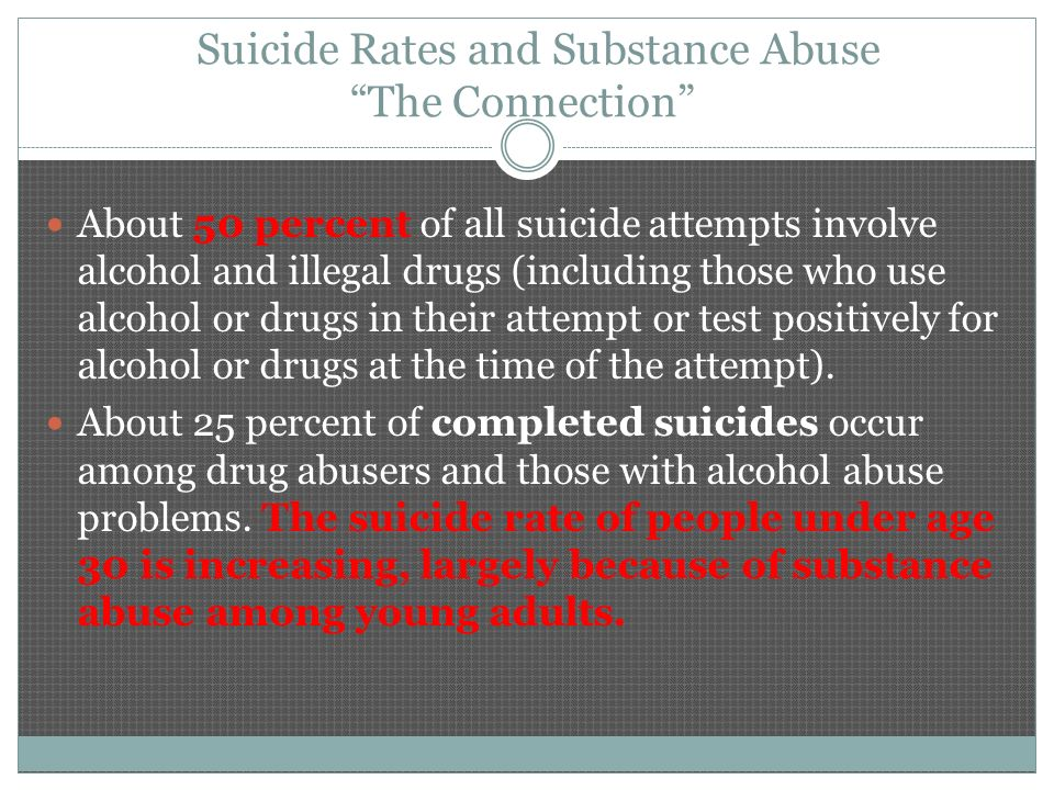 alcoholism and suicide Accident or suicide compared with those in the lower 48 drinking and drinking-related problems among alaska natives bernard segal and alcoholism.
