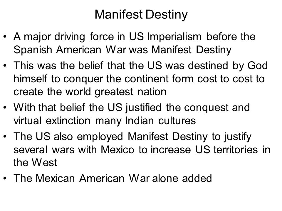manifest destiny really imperialism