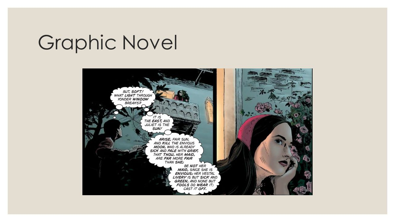 romeo juliet compare contrast the iconic balcony scene ppt 4 graphic novel