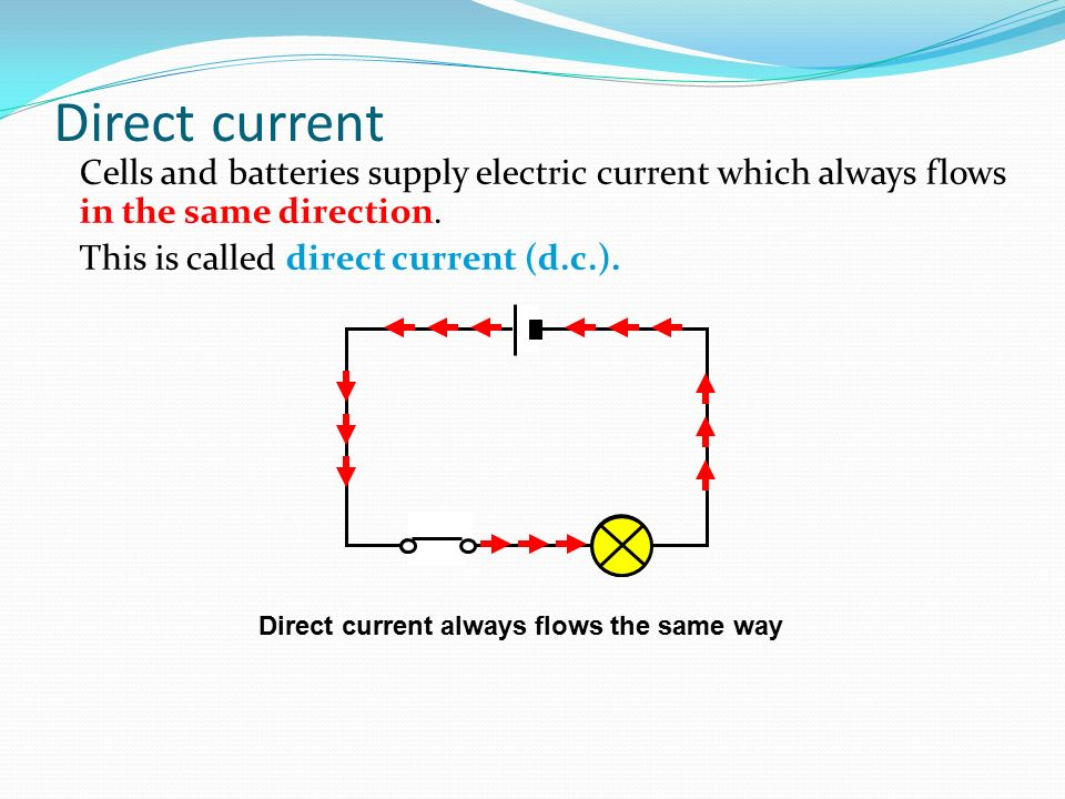 Direct current supply