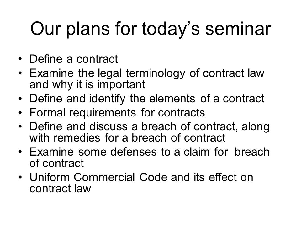 Unit 8 Contract Law. To Do List Read Chapter 7 In Your Textbook