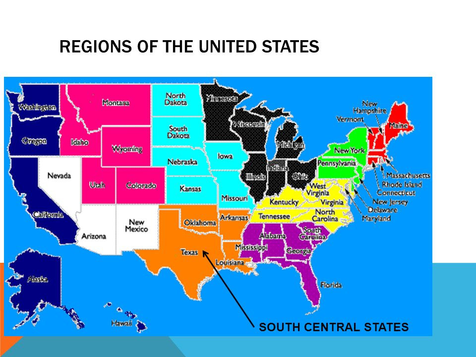 2 Regions Of The United States South Central States