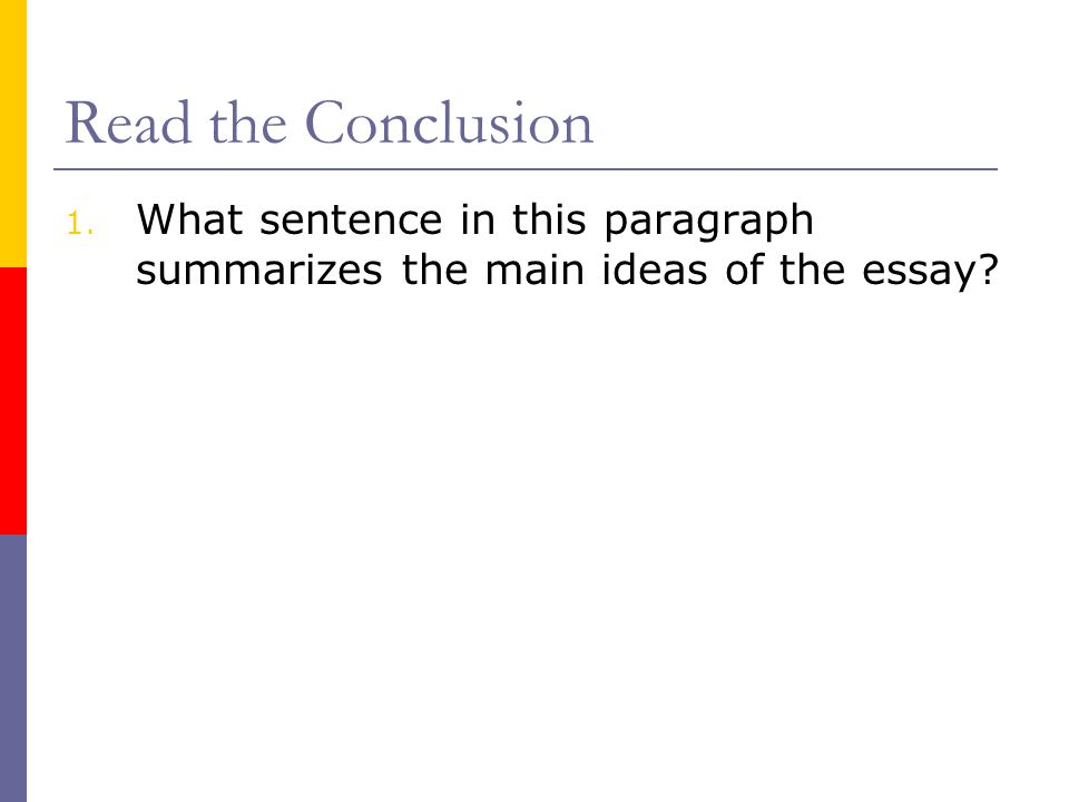 writing a conclusion for a five paragraph essay