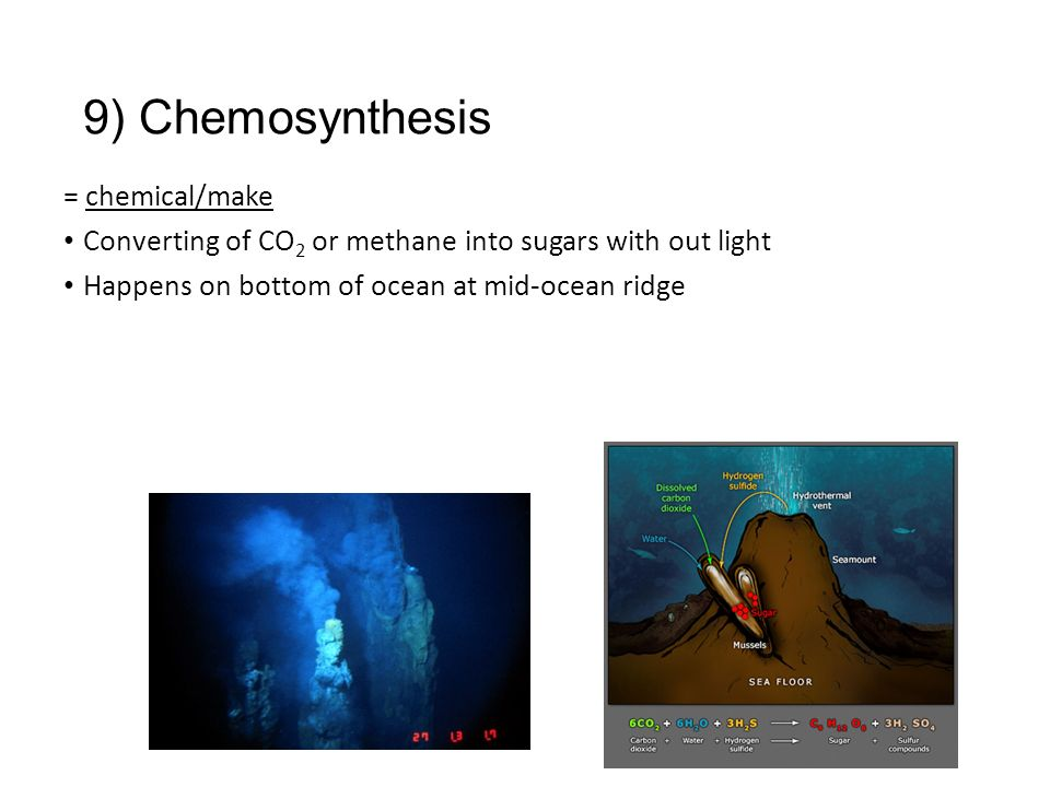 chemosynthesis of methane