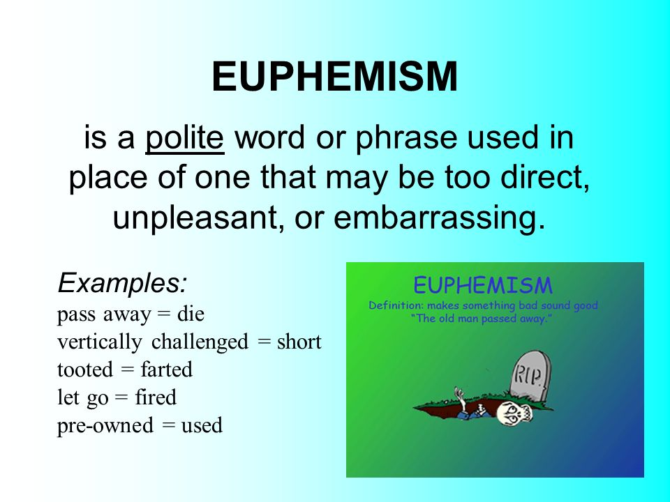 social fuctions of euphemisms essay Often we use euphemisms to be polite when describing write an essay about evaluating an argument in an write an essay about evaluating an argument.