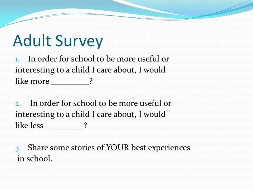 Adult Survey 1.