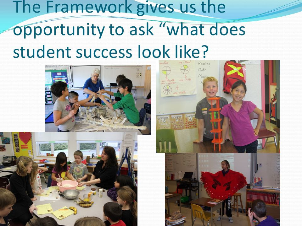 The Framework gives us the opportunity to ask what does student success look like?