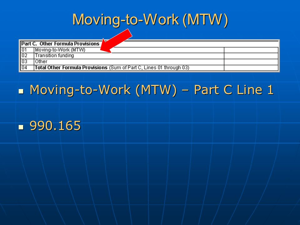 Moving-to-Work (MTW) Moving-to-Work (MTW) – Part C Line 1 Moving-to-Work (MTW) – Part C Line 1 990.165 990.165