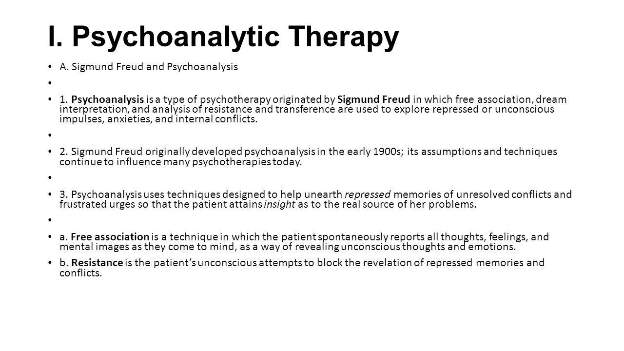 psychoanalytic therapy psychodynamic therapy