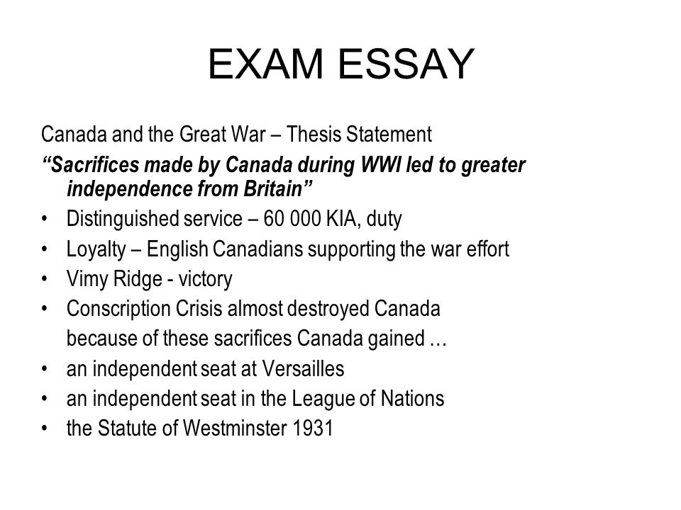 world war 1 thesis statement World war one came just in time to prevent a united international labor movement ask away tags: world war one, world war.