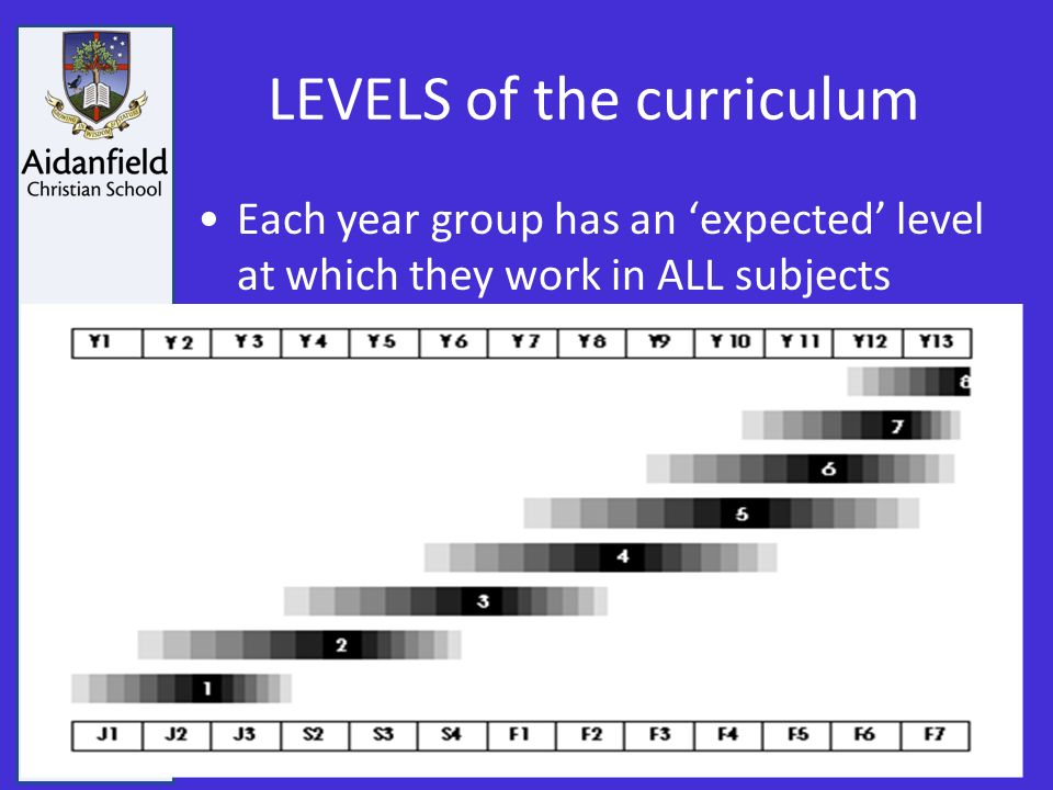 Growing in Wisdom and Stature LEVELS of the curriculum Each year group has an 'expected' level at which they work in ALL subjects