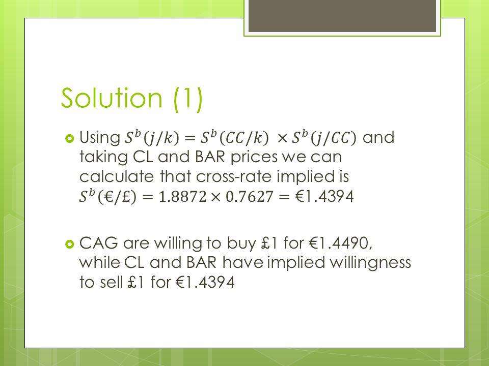 Solution (1)