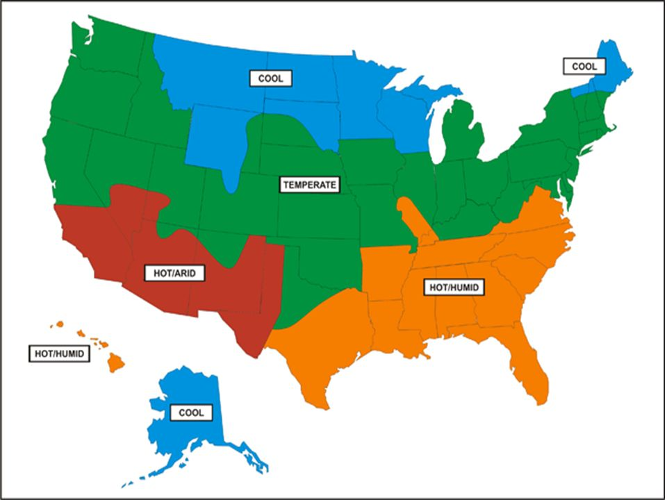 V Types Of Climates A Climate Regions Patterns Of Temperature - Us climate regions map